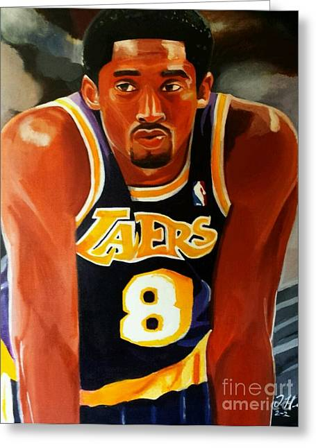 Lakers Paintings Greeting Cards - Greatness part2 Greeting Card by Jason Majiq Holmes