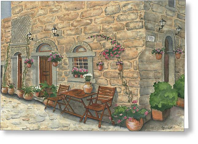 Grecian Charm Greeting Card by Marsha Elliott