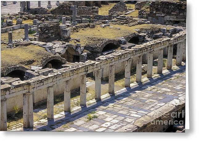 Byzantine Greeting Cards - Greco-Roman Theater Greeting Card by Bob Phillips