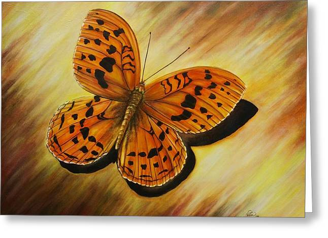 Greek Butterflies Greeting Cards - Greek Butterfly Greeting Card by Vivian Holabird