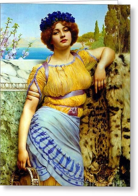 Armband Greeting Cards - Greek Dancing Girl 1902 Greeting Card by Padre Art