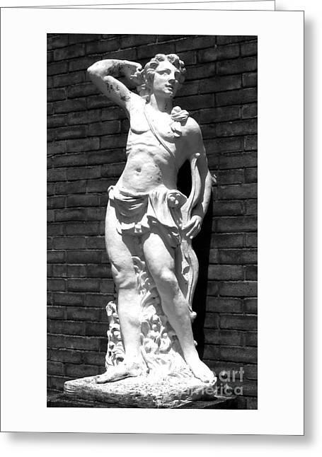 Greek Sculpture Greeting Cards - Greek Man Flirtation Greeting Card by Nathan Little