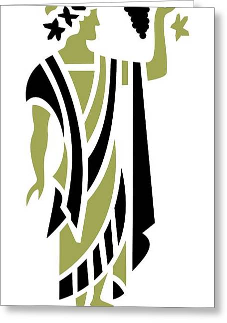 Grape Leaves Digital Greeting Cards - Greek Man in Olive Greeting Card by Donna Mibus