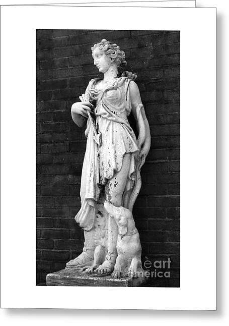 Greek Sculpture Sculptures Greeting Cards - Greek Woman Flirtation Greeting Card by Nathan Little