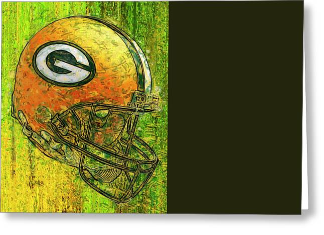 Legends Field Digital Art Greeting Cards - Green And Gold Greeting Card by Jack Zulli