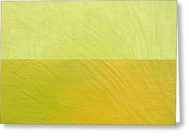 Green and Greenish Greeting Card by Michelle Calkins
