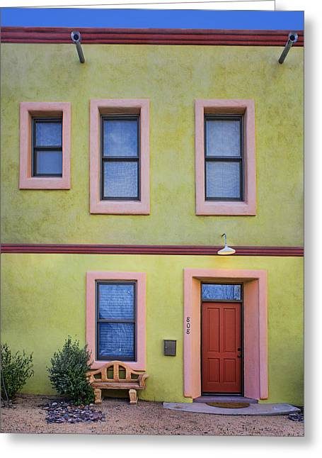 Green And Pink - Barrio Historico - Tucson Greeting Card by Nikolyn McDonald