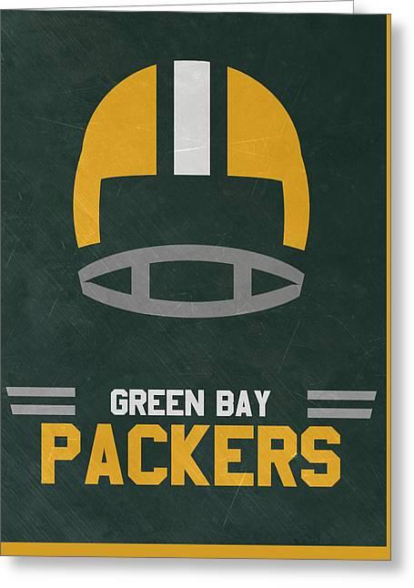 Green Bay Packers Vintage Art Greeting Card by Joe Hamilton