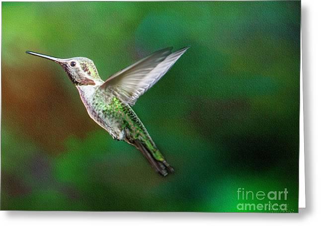 Green Beauty Greeting Card by David Millenheft