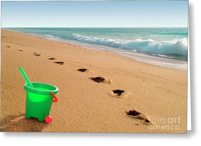 Spade Greeting Cards - Green Bucket  Greeting Card by Carlos Caetano