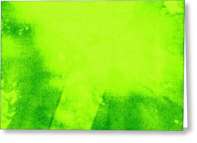 Green Cross Greeting Card by Brandi Webster