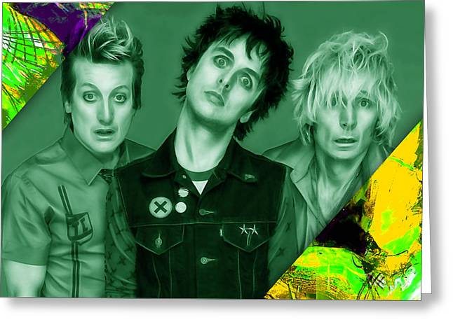 Green Day Collection Greeting Card by Marvin Blaine