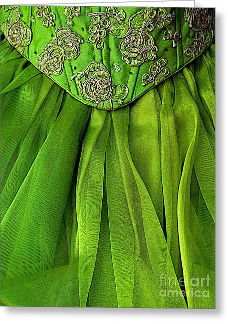 Michael Sweet Greeting Cards - Green Frock Greeting Card by Olden Mexico