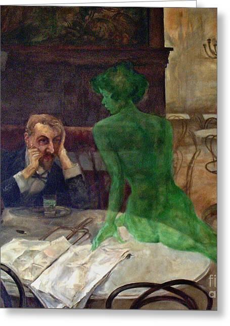 Green Goddess Devotee 1901 Greeting Card by Padre Art