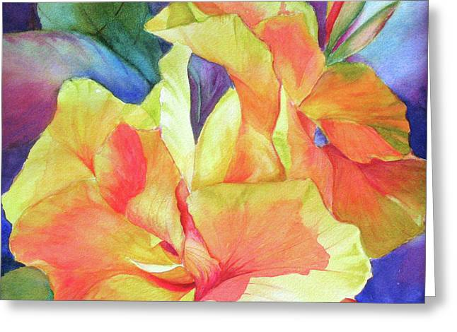 Green Gold Greeting Card by H S Craig