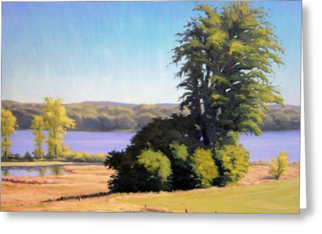 Award Winning Art Greeting Cards - Green Lake Greeting Card by Rick Hansen