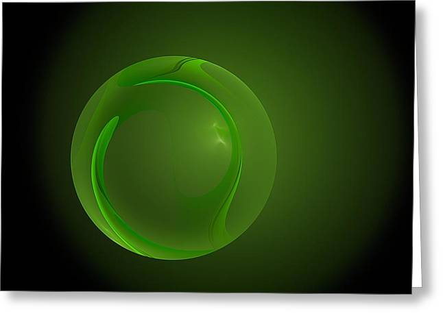 Green Lantern  Greeting Card by Doug Morgan