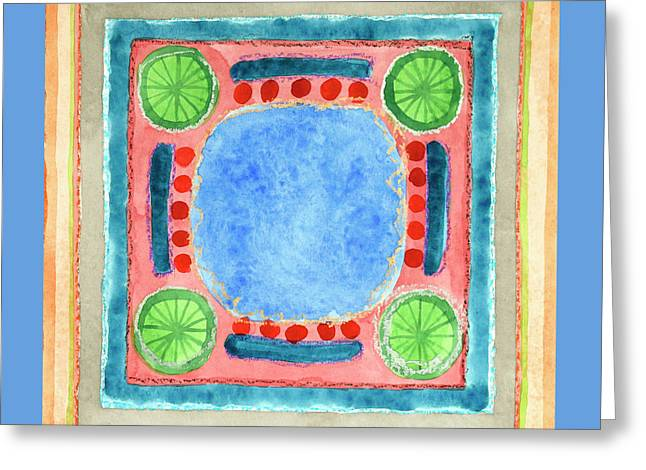 Lemon Art Greeting Cards - Green Lemons Greeting Card by Heidi Capitaine