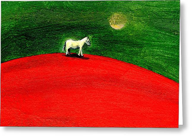 Green Night Greeting Card by Gigi Sudbury