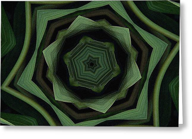 Green On Green Greeting Card by Bonnie Bruno