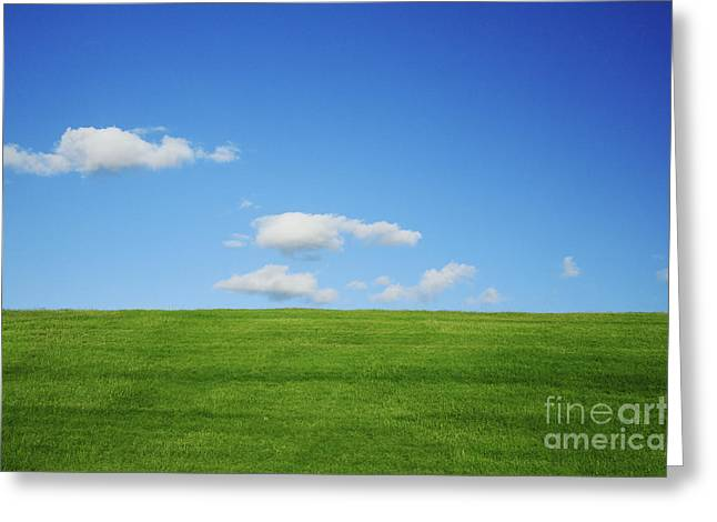 Green Pastures II Greeting Card by Brandon Tabiolo - Printscapes