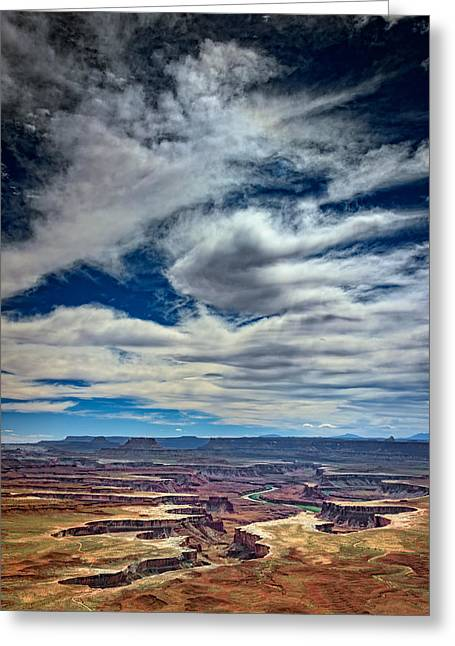Green River Greeting Cards - Green River Overlook Greeting Card by Rick Berk