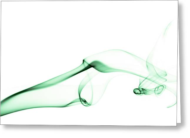 Green Smoke Greeting Card by Scott Norris