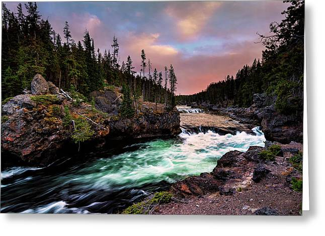 Green Water At Sunset Greeting Card by Jeremy Clinard
