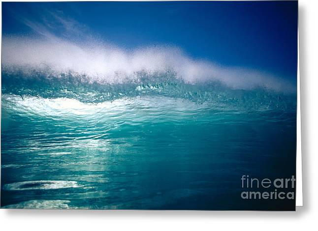 Backlit Greeting Cards - Green Wave Greeting Card by Vince Cavataio - Printscapes