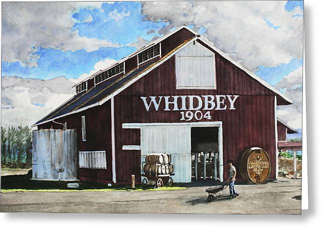 Whidbey Island Greeting Cards - Greenbank Farm Greeting Card by Perry Woodfin