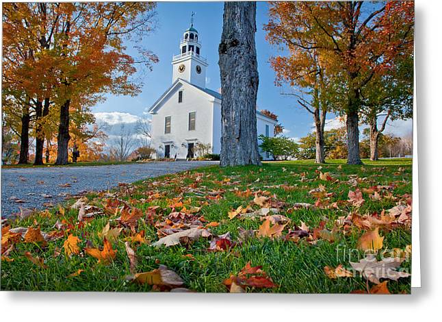 Greenfield Church Greeting Card by Susan Cole Kelly