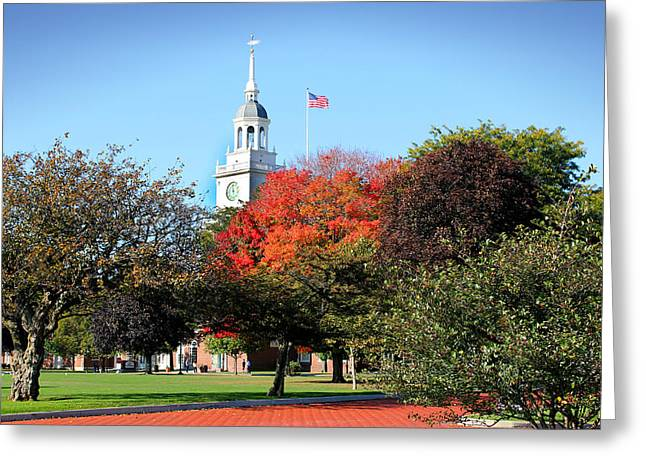 Greenfield Village And Henry Ford Museum In The Fall In Dearborn Michigan Greeting Card by Design Turnpike