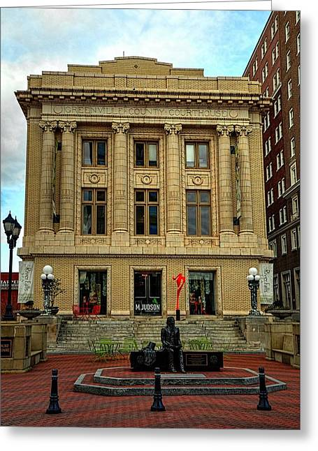 Greenville County Courthouse Greeting Card by Carol R Montoya