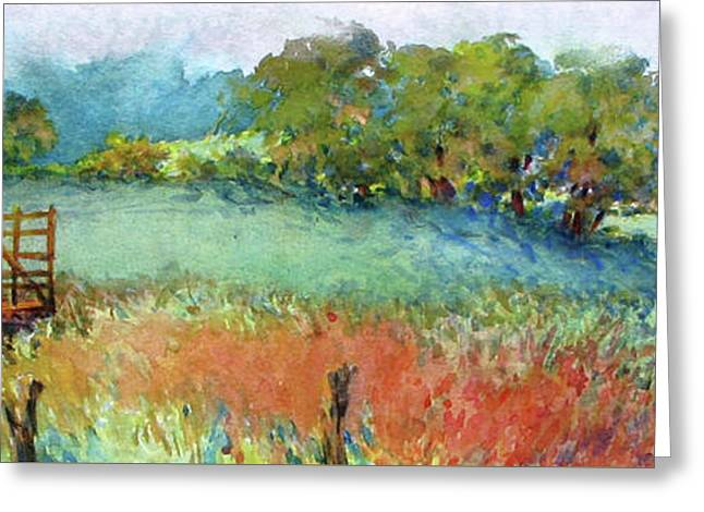 Greenville Hayfield In The Rain Greeting Card by Virgil Carter
