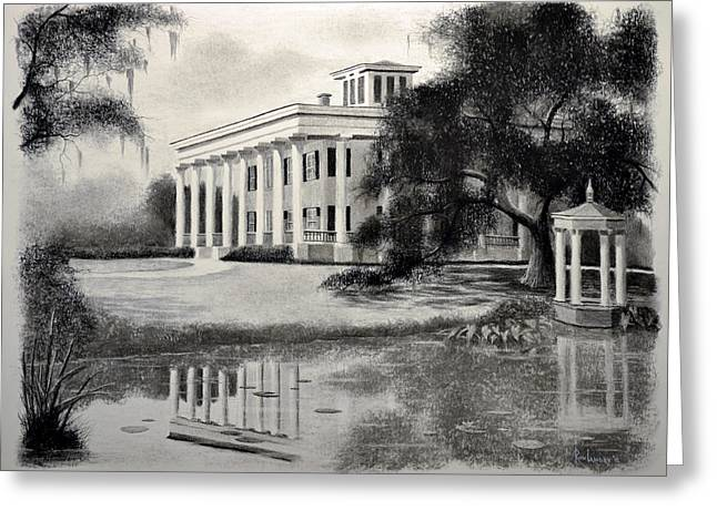Plantations Drawings Greeting Cards - Greenwood Plantation Greeting Card by Ron Landry