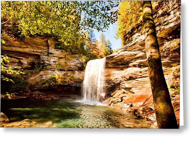 Tennessee River Digital Greeting Cards - Greeter Falls Greeting Card by Paul Bartoszek