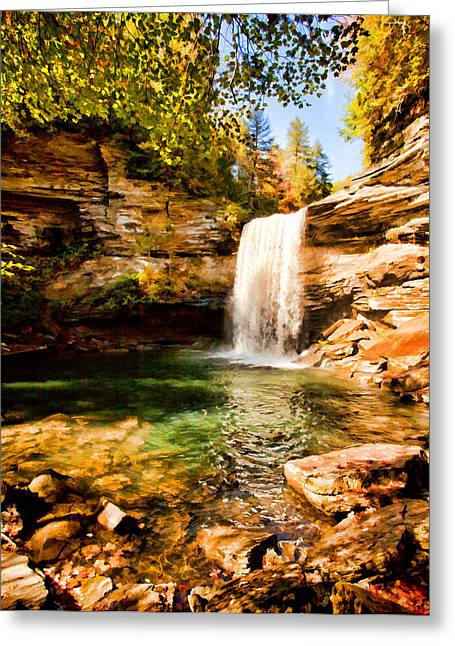 Tennessee River Digital Greeting Cards - Greeter Falls Pool Greeting Card by Paul Bartoszek