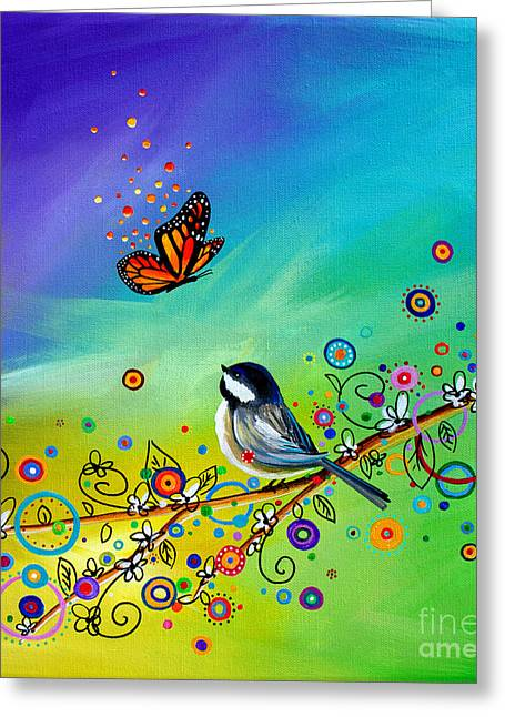 Greetings Greeting Card by Cindy Thornton