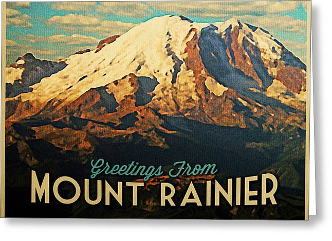 Greetings From Mount Rainier Greeting Card by Flo Karp