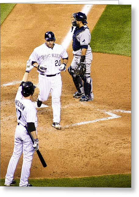 Todd Helton Greeting Cards - Greetings My Friend Greeting Card by Marilyn Hunt