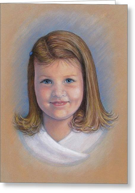 Commissions Pastels Greeting Cards - Greta Greeting Card by Tanja Ware