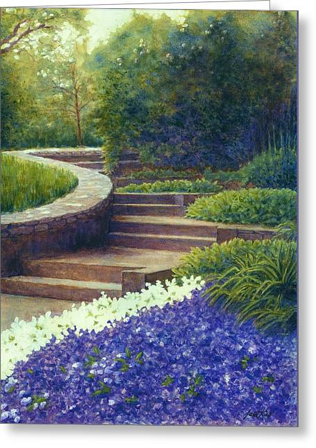 Gretchen's View At Cheekwood Greeting Card by Janet King
