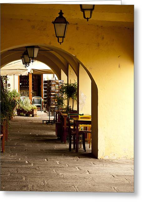 Greve In Chianti Portico Greeting Card by Rae Tucker