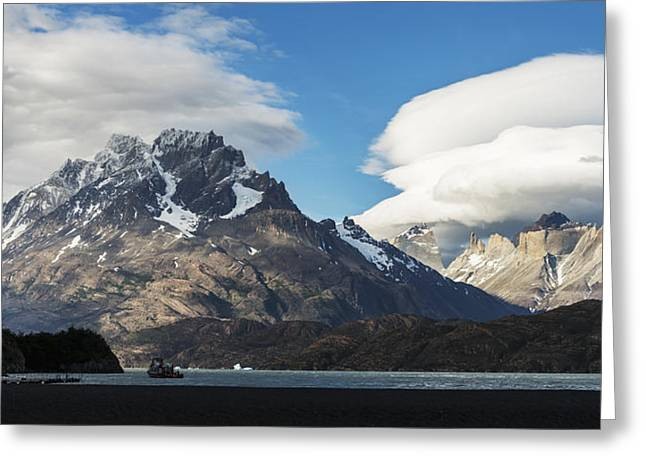 Grey Clouds Greeting Cards - Grey Lake, Torres Del Paine National Greeting Card by Keith Levit