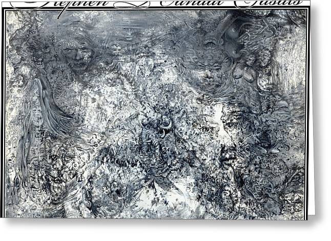 Hallucination Greeting Cards - Grey Matter Greeting Card by Stephen Casals
