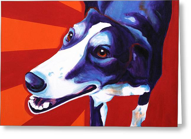 Lurcher - Evie Greeting Card by Alicia VanNoy Call