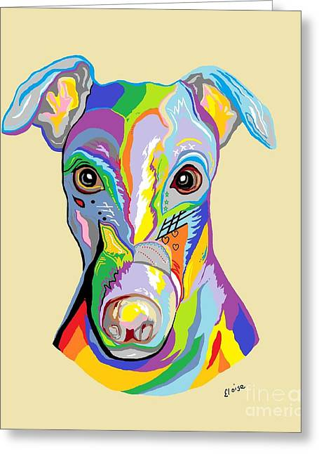 Greyhound Greeting Card by Eloise Schneider