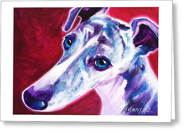 Greyhound - Myrtle Greeting Card by Alicia VanNoy Call