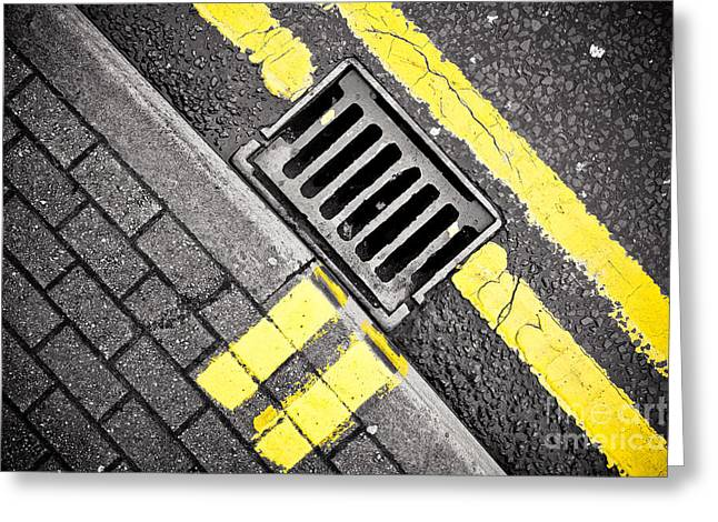 Grid Greeting Card by Pete Edmunds