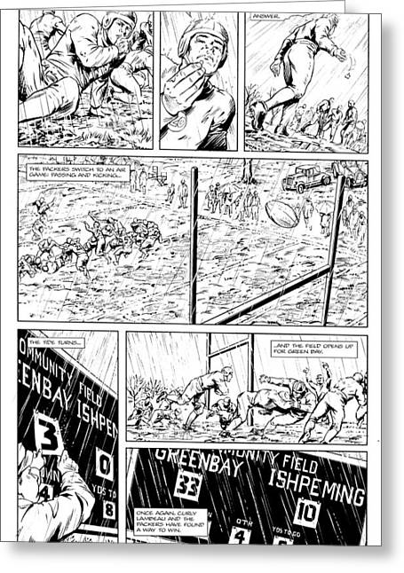 Gridiron  2 Black And White Teaser Page Greeting Card by Greg Le Duc Ron Randall
